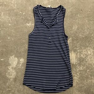 7 For All Mankind Striped Tank